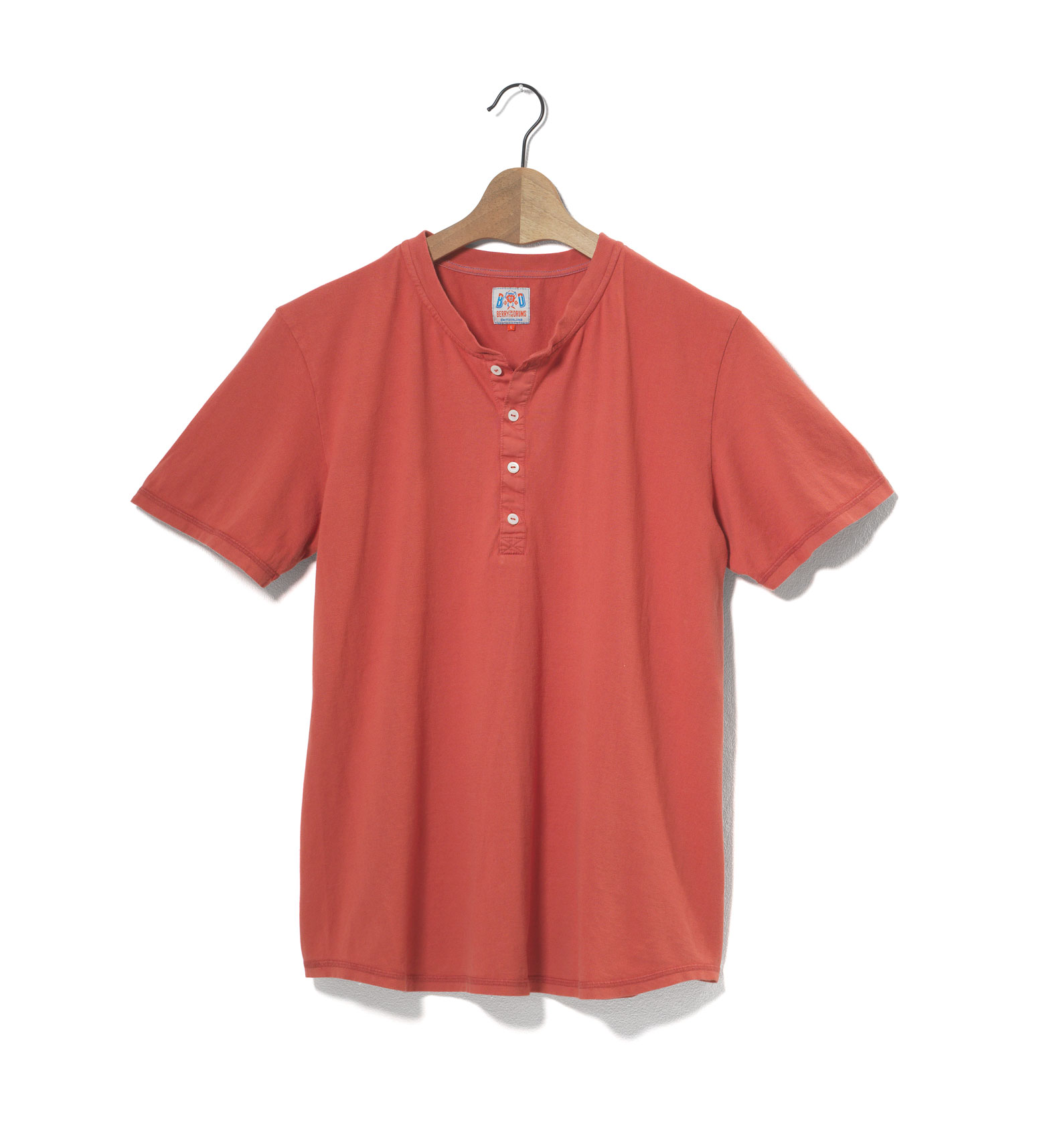 Image of Henley Short Sleeves Single Jersey
