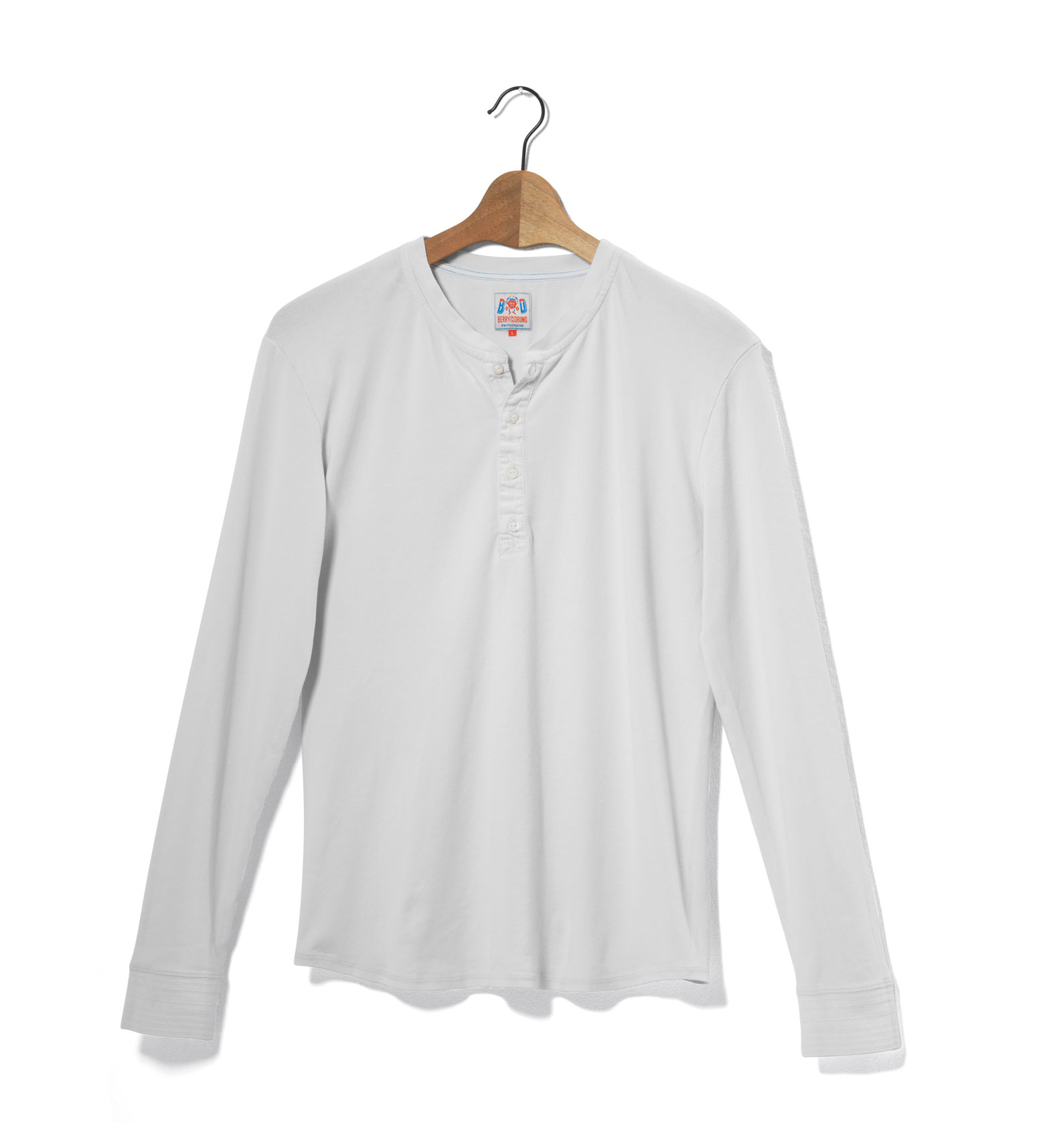Image of Henley Long Sleeves Ribbed Jersey