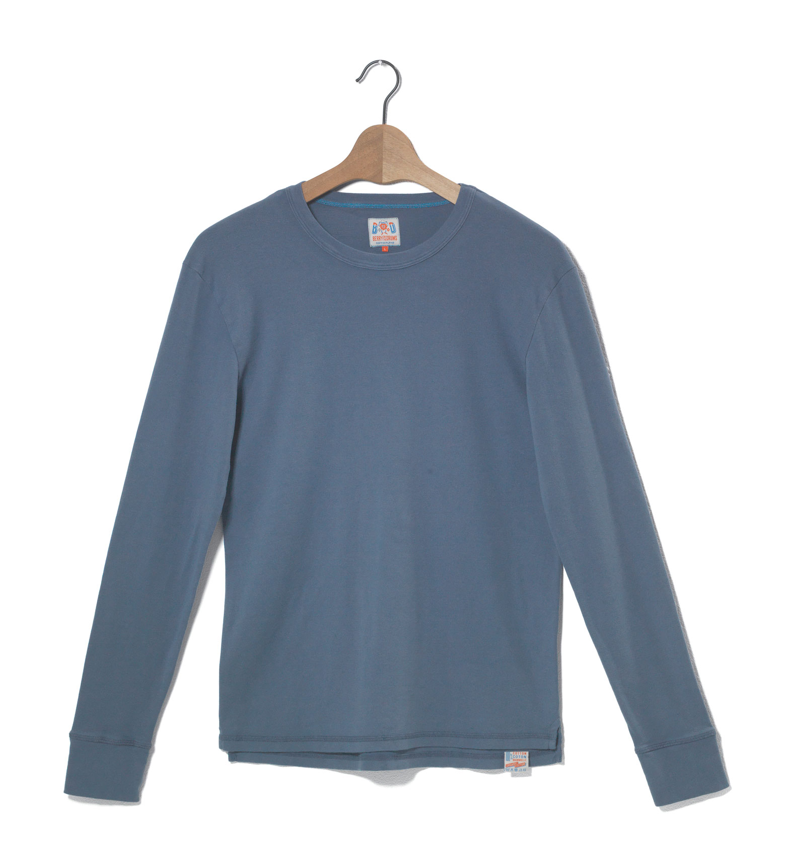 Image of Crew Neck Long Sleeves Ribbed Jersey